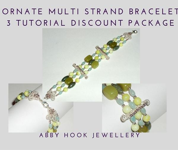 Ornate Multi Strand Bracelet 3 Tutorial discount pack