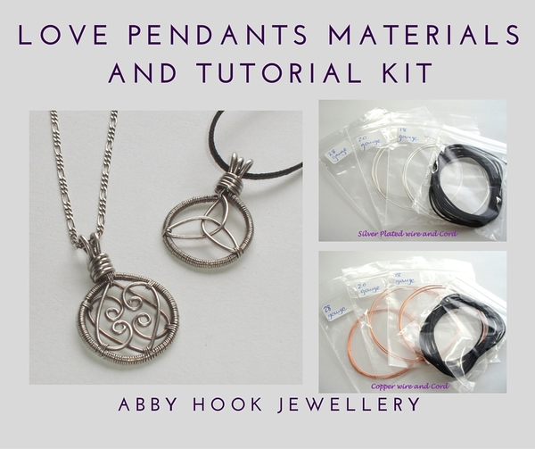 Love Pendants Materials and tutorial kit