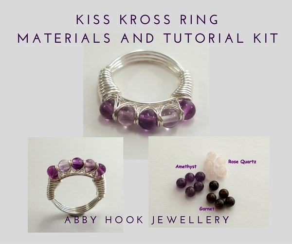 Kiss Kross Ring Materials and Tutorial Kit