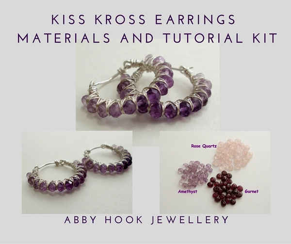 Kiss Kross Hoop Earrings Materials and tutorial Kit