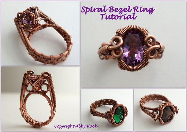 Spiral Bezel Ring Tutorial