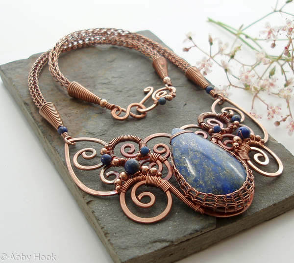 Oceanus - Lapis Lazuli and Copper Necklace
