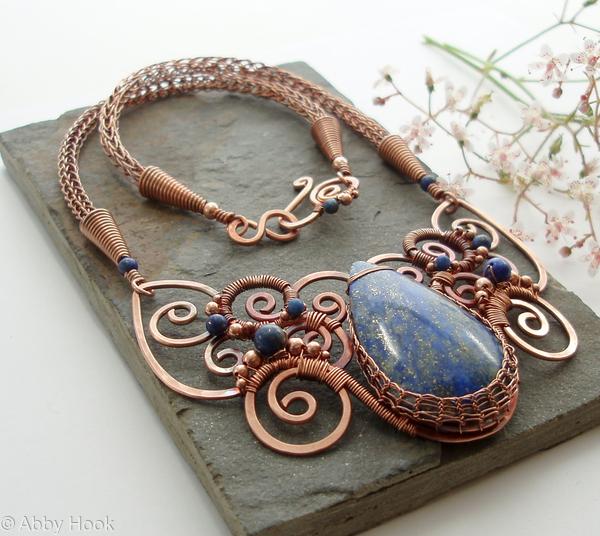 Oceanus - Lapis Lazuli and Copper Necklace