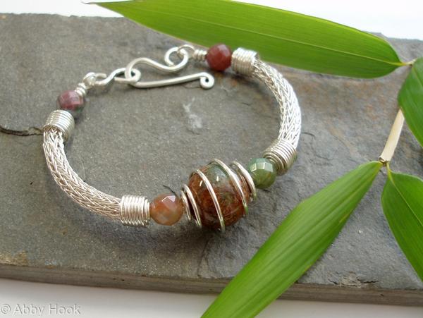 Torcesque - Fancy Jasper and Silver bracelet