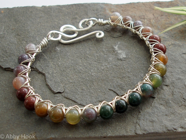 Kiss Kross Rainbow Bracelet - Fancy Jasper and silver