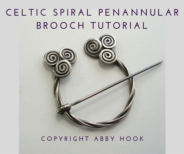 Celtic Spirals Penannular brooch Tutorial