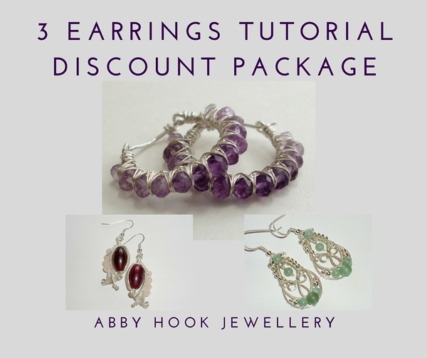 3 Earrings Tutorial Discount Package - 4 Tutorials