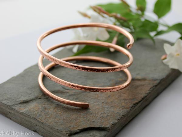 Triple wrap Copper Bangle, Bracelet, Cuff