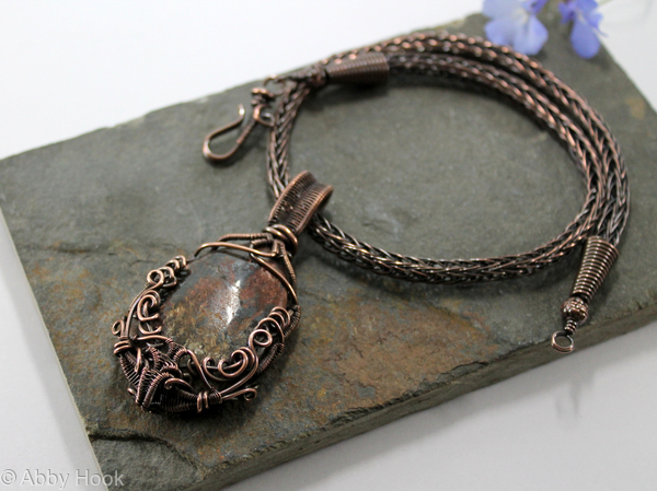 alice wire on aliceandlois pendant necklace these can you necklaces com wrapped and make beautiful diy stone loisdiy