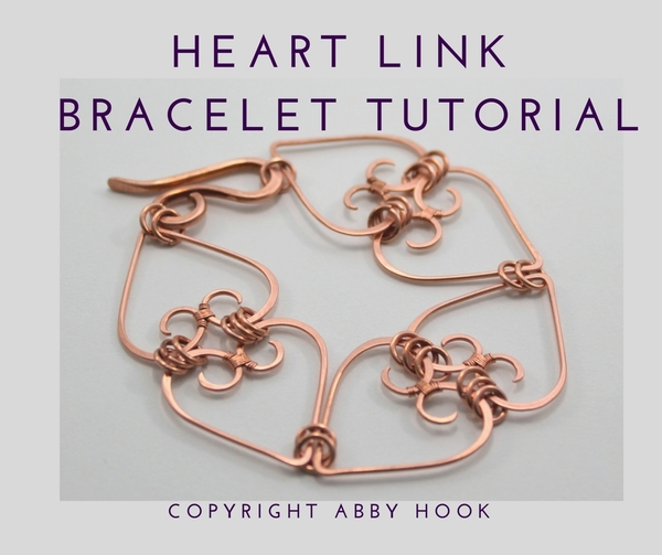 Heart Link Bracelet, Wire Jewelry Tutorial