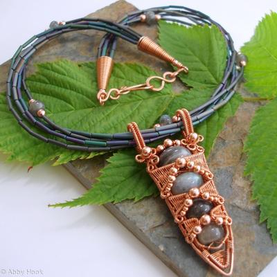Labrodite Monolith necklace