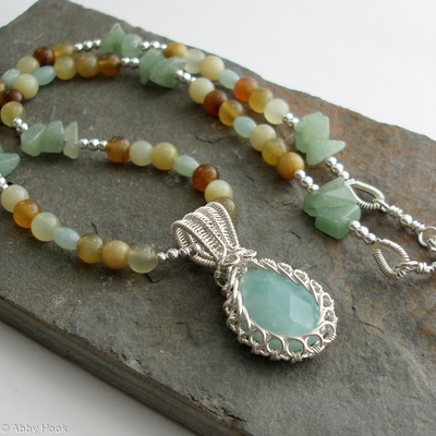 Jade Garden Necklace - Amazonite