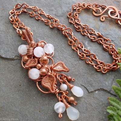 The Vine Pendant - Moonstone