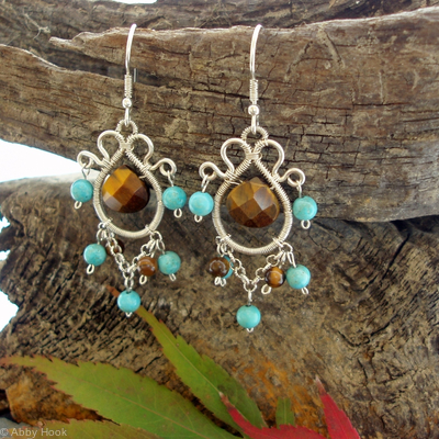 Eastern Charm Earrings - Tigers eye
