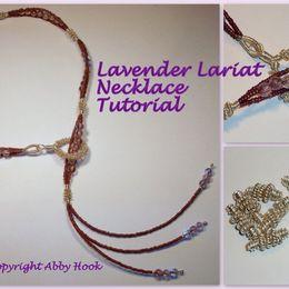 Lavender Lariat Necklace Tutorial