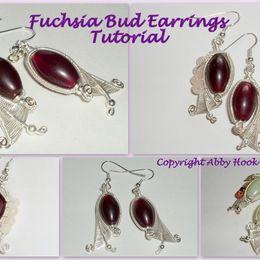 Fuchsia Bud Earrings Tutorial