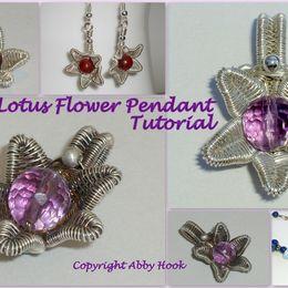 Lotus Flower Pendant Tutorial