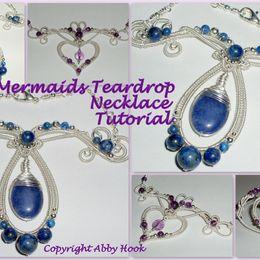 Mermaids Teardrop Necklace Tutorial