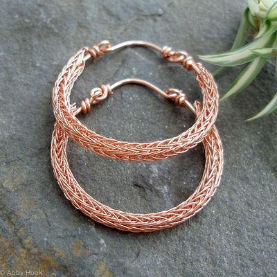 Viking Knit hoop earrings