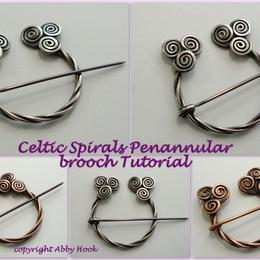 Celtic Spirals Penannular brooch Tutorial