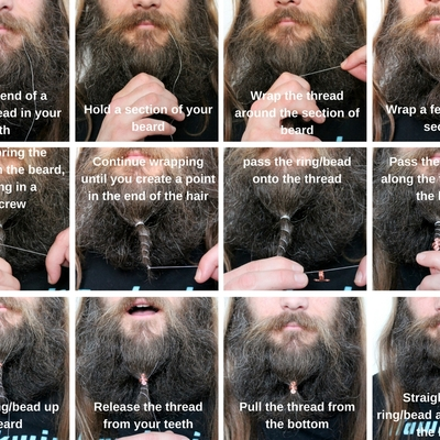How to wear beard rings or beads