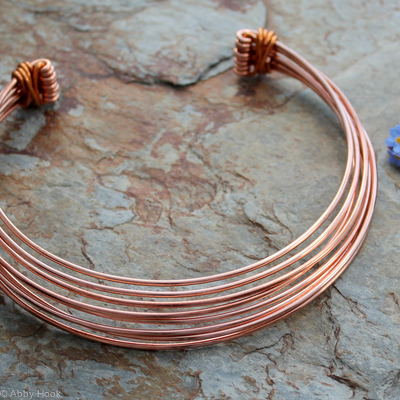 Neck Torc - Multi strand - Copper, Celtic Torq or Torque