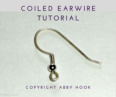 Coiled Earwires tutorial - free