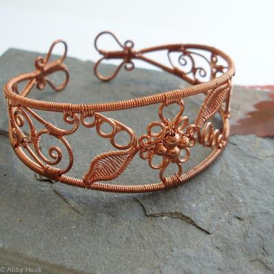 Lace - Filigree Inspired cuff - Copper