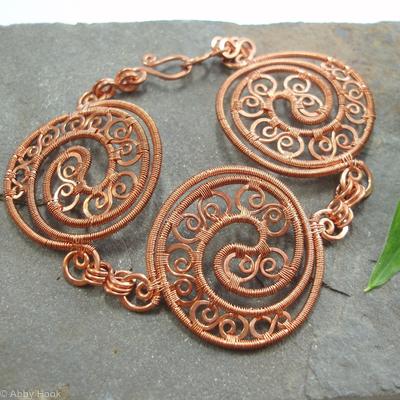 Boudica - Triple Celtic Disc bracelet