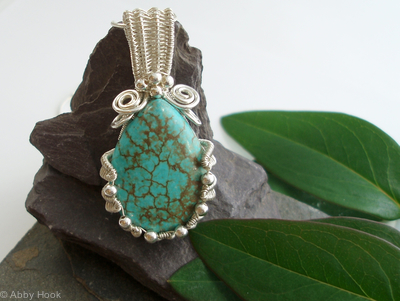 Turquoise Oyster Cup Pendant