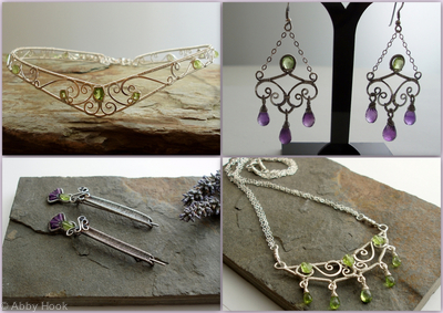 Peridot and Silver wedding collection
