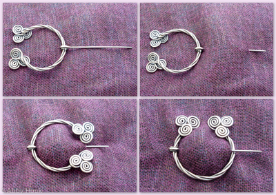 How to wear a Penannular Brooch