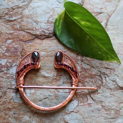 Penannular Brooch - Copper and Garnet