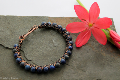 Kiss Kross Bracelet - Copper and Lapis Lazuli