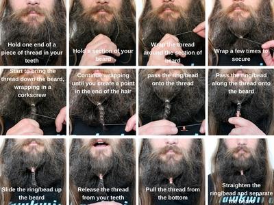 How to wear beard rings or beads