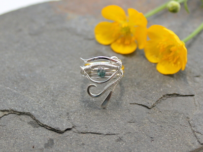 Eye of Horus Beard, Dreadlock or braid ring or bead