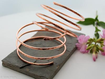 Triple Wrap Copper Armlets - 1 Pair