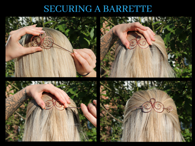 How to wear a barrette