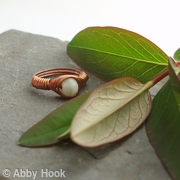 Vortex Wrapped Ring - Milky Jasper - Sale - 25 percent discount