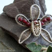 Orchid Flower brooch