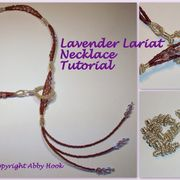 Lavender Lariat Necklace Tutorial