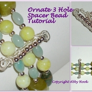 Ornate 3 Hole Spacer Bead Tutorial