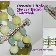 Ornate 3 Hole Spacer Bead Tutorial