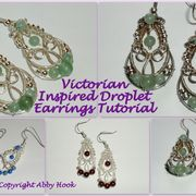 Victorian Style Droplet Earrings Tutorial