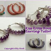 Kiss Kross Hoop Earrings Tutorial