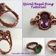 Spiral Bezel Ring Tutorial