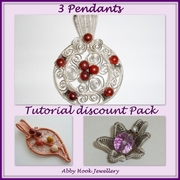 3 Pendants Tutorial Discount Package - 3 Tutorials