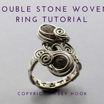 Double Stone Woven Ring Tutorial