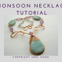 Monsoon Necklace, Wire Jewelry Tutorial