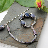 Reserved for Adrian Celtic Brooch - Sterling Silver And Tanzanite
